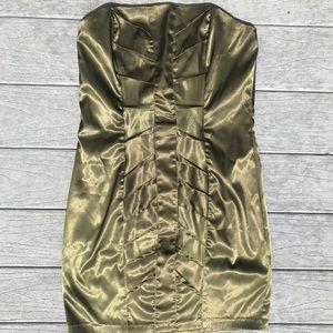 Trixxi Avocado Green Dress. Size 13